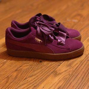 Purple Suede Sneakers